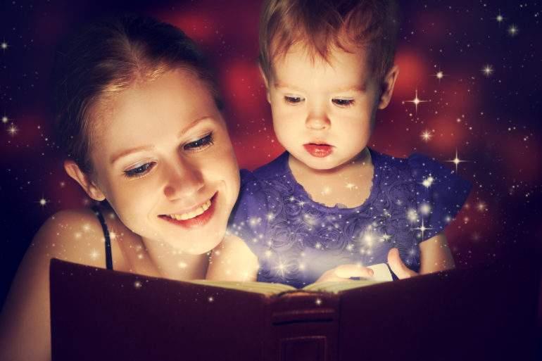 Как женчина читает сказки